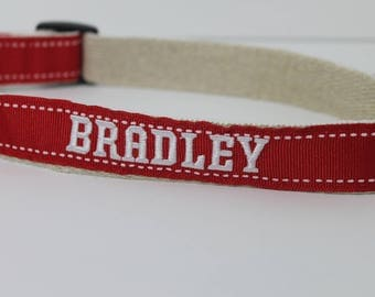 Bradley University hemp dog collar or leash
