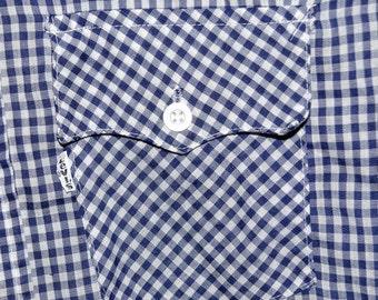 ON SALE Vintage LEVIS Blue Gingham 1970's Western Shirt Mens M Medium Mod S Small Womens Medium-Large