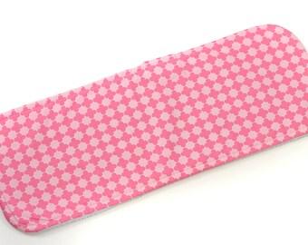 Pink Tile Burp Cloth - New Baby Gift, Personalized Baby Gift, New Baby Girl, Boutique Baby