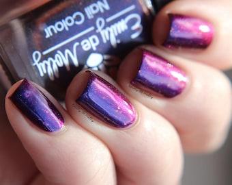 "Nail polish - ""Royal Dye"" purple / red  multichrome polish"
