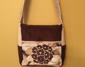 Kelly Ann #1705, Zippered Purse, Medium Sized Purse, Shoulder Purse, Shoulder Bag, Up Cycled Fabric Bag, Purses, Bags, Upholstery Fabric Bag