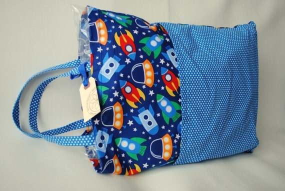 Travel Pillowcase with Pillow-Pocket Pillow-Small Pillow-Car Pillow-Space-Rocket-Child Pillow-Girl Pillow-Girl Gift-Sleepover Gift-Road Trip
