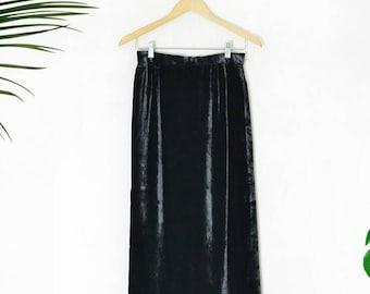 Vintage 90s high waist Patricia Rhodes couture velvet skirt