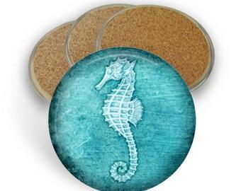 Seahorse Coaster Set, Seahorse Coasters - Drink Coasters