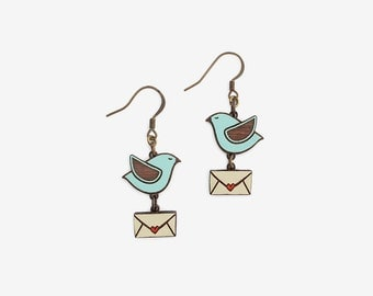 BLUE FLYING LOVE, Loving Birds Collection by Materia Rica
