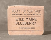 Wild Maine Blueberry Soap- All Natural Soap, Handmade Soap, Unscented Cold Process Soap