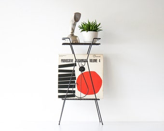 Vintage Mid Century Modern Atomic Record Stand
