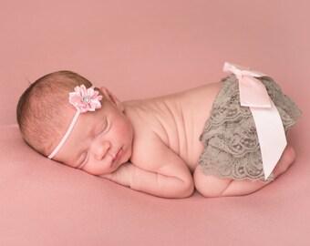Pink baby headband, infant headband, baby headband, newborn headband, pink flower headband, pink baby hair bow, pink baby hair band, bow