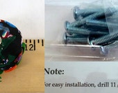 DEPOSIT ~ 1st Payment ~  Polymer Clay Cabinet Knobs, Set of 10 OOAK Handmade, Bright Colors, 1.25 to 1.5 Inch Wide