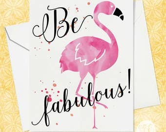 Best Friend Card - Funny Flamingo Card - Funny Card for Friend - Friend Card - Best Friends - Friendship Card