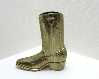 Vintage Cowboy Boot / Shoe Planter / Vase