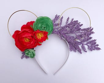 """The Little Mermaid """"Ariel"""" Magical Floral (Inspired) Mickey Ears"""