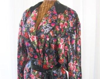 Morgan Taylor Vintage Kimono Robe Floral Print Unworn Size Small