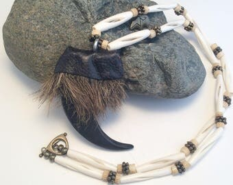 Extra Large Faux Bear Claw Necklace