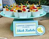 Submarine Table Food Signs