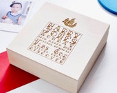 Personalised Nautical Wooden Baby Keepsake Box