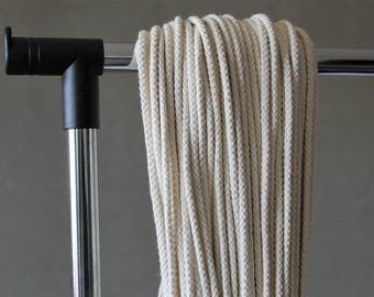 Cotton rope - 6mm diameter, 50 meter, knitted rope for Macrame projects