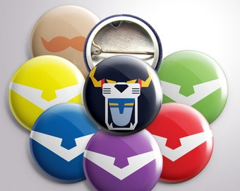 "Voltron-Themed 1"" Buttons"