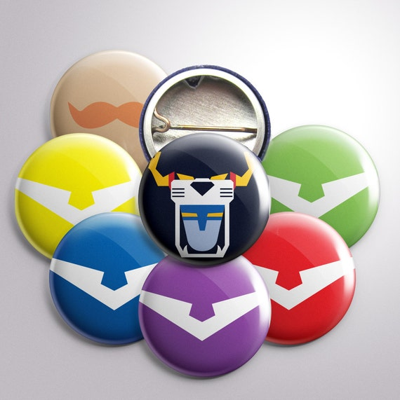 """Voltron-Themed 1"""" Buttons"""