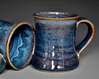 Blue Pottery Mug Ceramic Coffee Mug Stoneware Mug Midnight Blue