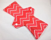 10 Inch Cloth Menstrual Pad Red Chevron