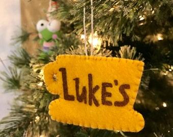 Luke's Dinner Felt Ornament