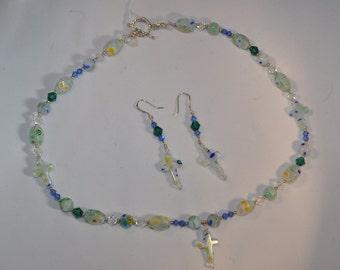 Millefiori Necklace & Earring Set