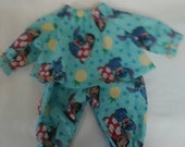 "Baby Alive  And Waldorf Doll Clothes Disney Lilo and Stitch Pajamas 10"" 12"" 15"""