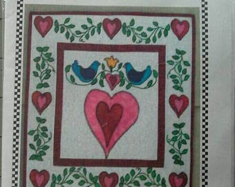 All My Love Material Girls Mini Quilt Kit, Valentines Day, Hearts, Wallhanging
