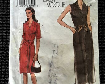 Very Easy Vogue 7897 Misses Dress and Sash Sewing Pattern Size 20-24 UNCUT