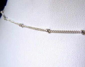 Ankle Bracelet Sterling Silver Satellite Chain Anklet