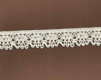 Antique White Cluny Lace  3 yards