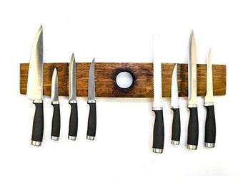 Ganivet - Barrel Stave Magnetic Knife Holder