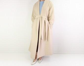 VINTAGE Ivory Coat Emanuel Ungaro Soft Robe Coat