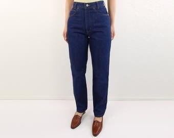 VINTAGE 1980s Chic Jeans Dark Denim High Waist Pants