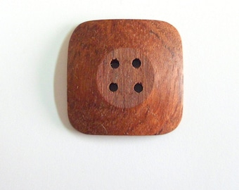"Handmade 1"" Buttons Bubinga Wood Buttons Natural Color Buttons Hand Crafted Square Buttons Sewing Buttons Knitting Buttons Craft Supply"