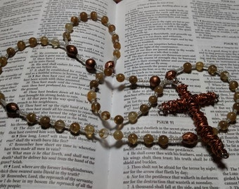 R047 Christian Prayer Beads Traditional Catholic Rosary