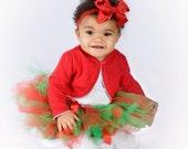 ON SALE Tutu- Baby Tutu- Christmas Tutu- Red and Green- With Matching Headband- Tutu- Newborn Christmas Tutu- Tutus- Available In Size 0-24