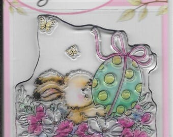 Wild Rose Studio Clear Stamp -- NEW -- Easter Bunny -- (#2153)
