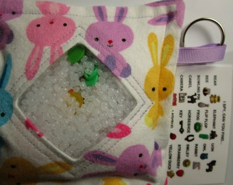 Easter I Spy Bag Game, Bunnies, Neutral, eye spy, busy bag, seek and find, party favor, sensory occupational therapy, I spy bag, autism