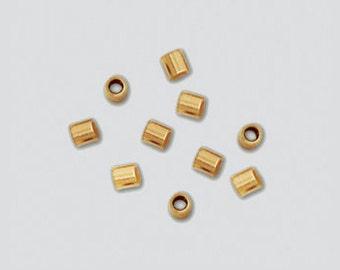 NEW 14 kt Goldfilled Crimps     2 MM x 2 MM (50)  (GFC202)