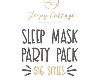 Build Your Own Sleep Mask Party Pack
