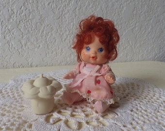 Strawberry Shortcake  BERRY BABY Strawberry Doll, 1984. Complete with original bottle.