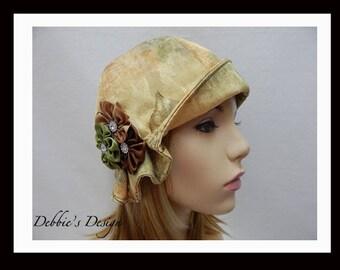 Women's Handmade Cloche Hat-544 Multi-color warm colors, Women, Handmade, Cloche, Women's Handmade Cloche Hat, Spring, Cloche Hat
