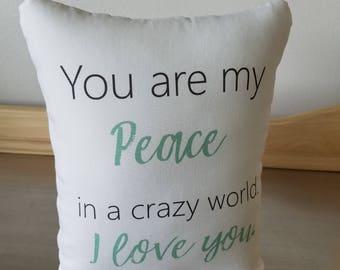 Best girlfriend gift cotton pillow 2nd anniversary gifts throw pillow gift for him boyfriend cotton cushion white aqua home decor pillows