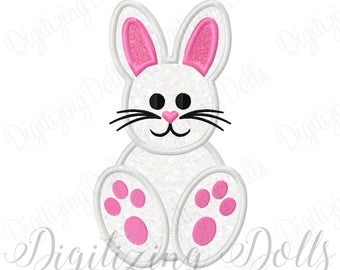 Easter Bunny Applique Machine Embroidery Design 4x4 5x5 6x6 5x7 8x8 9x9 6x10 INSTANT DOWNLOAD
