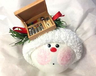 ARTIST CHRISTMAS Ornaments Painters Box Hand Painted Themed Personalized Townsend Custom Gifts (F) - BR