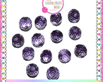 12mm PURPLE AMETHYST FACETED Kawaii Button, Sewing Notions, Buttons, Rhinestone Buttons, Whimsical Buttons, Purple Buttons, Shank Button