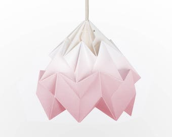 origami lamp shade Moth gradient soft pink