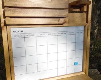 Message Center--Magnetic Board--Dry Eraseboard--Kitchen Decor--Mail Organizer--Magazine Holder